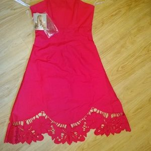 Red A-line Betsey Johnson Dress